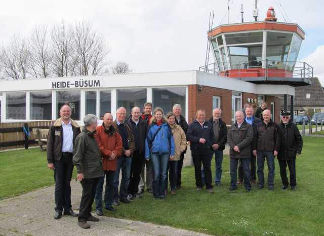 Piloten und Gäste in Büsum
